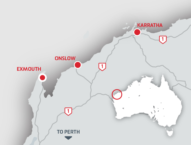 Exmouth Freight Map
